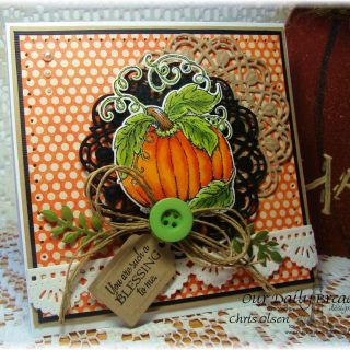 Picturesque Vintage Thanksgiving Paper Decorations Fresh Our Daily Bread Designs Pumpkin Doily Blessings Doily