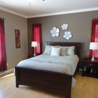 Picturesque What Curtains Go with Red Walls Elegant I Just Decorated Our Guest Bedroom with Red Accents I Would