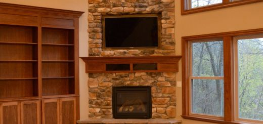 Remarkable Corner Stone Fireplace Awesome Floor to Ceiling Corner Stone Fireplace