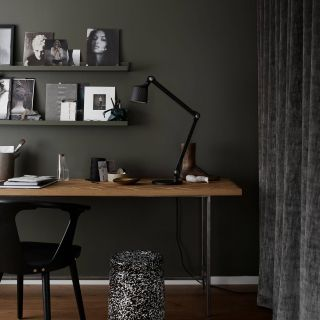 Remarkable Green Living Rooms Fresh Dark Office