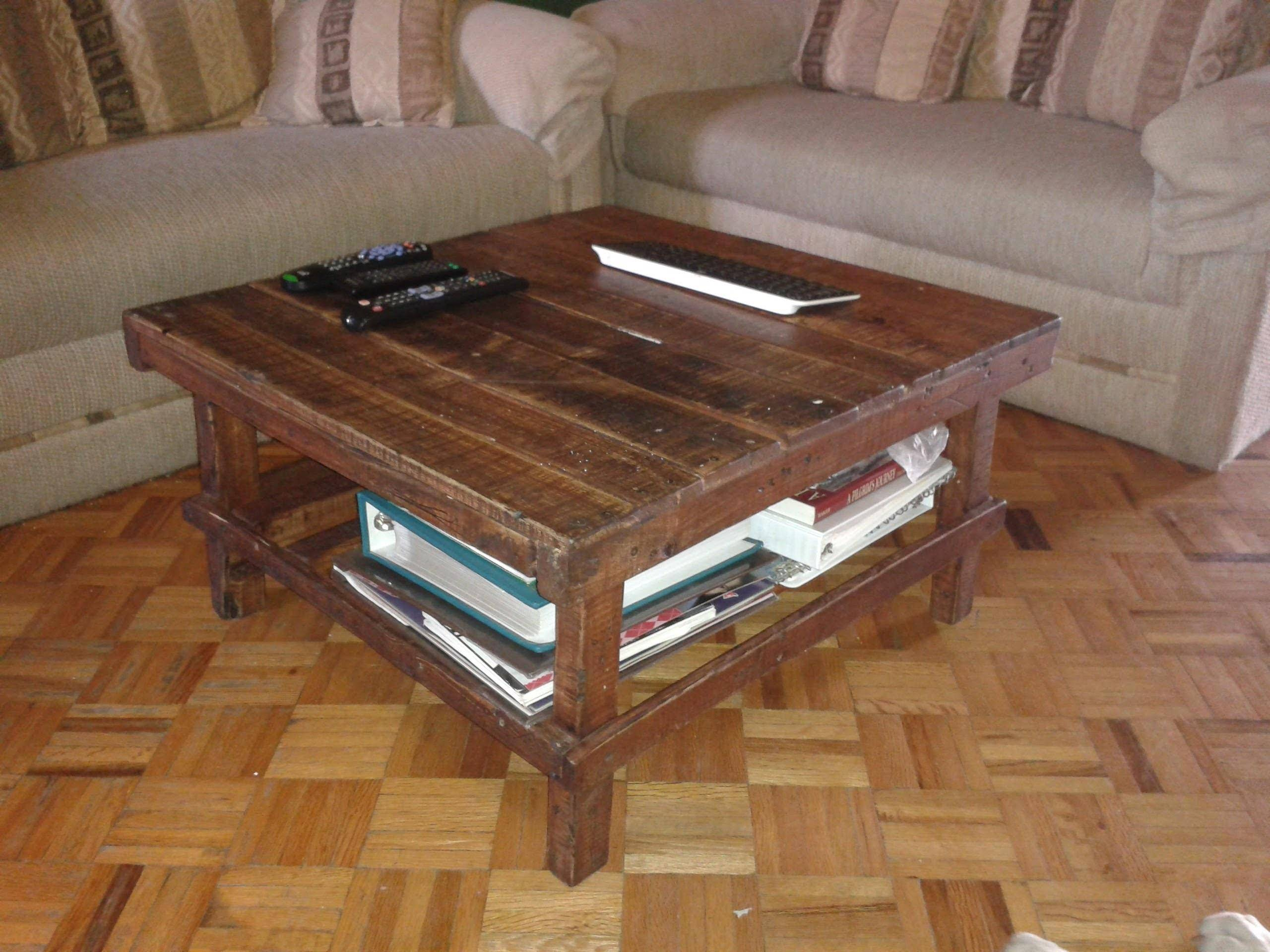 diy recycled pallet coffee table room