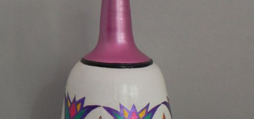 Remarkable Pottery Painting Ideas Inspirational Egyptian Style Pot Floral Design In Egyptian Style White