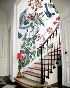 Remarkable Simple Wall Paint Design Beautiful Don T Like the Pattern but Like the area Of Wallpaper In the