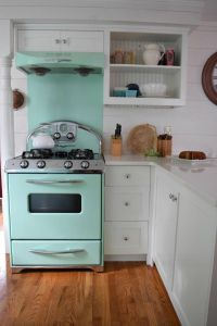 Retro Cherry Kitchen Decor Elegant Connecticut Beach House tour and Retro Kitchen
