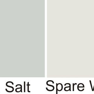 Silver Strand Benjamin Moore Fresh Sw Sea Salt Sw Spare White Walls White Wainscot