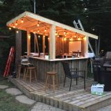 Tiki Decor for Patio Lovely Shed Diy Tiki Bar Backyard Pool Bar Built with Old Patio