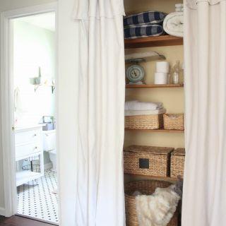 Unique Alternative to Bifold Closet Doors New Closet Door Alternative Easy Drop Cloth Curtains