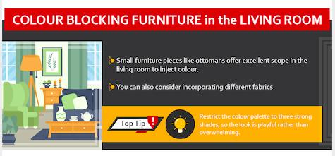 Colour Blocking in Interiors - Infographic
