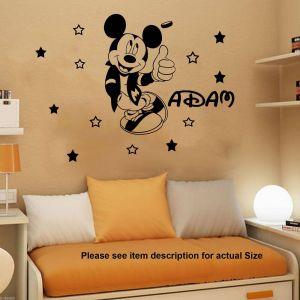 Minnie Mouse Wall Decor Beautiful Mickey Minnie Mouse Wall Art Decal Sticker Creative Mickey