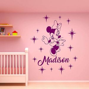Minnie Mouse Wall Decor Inspirational Amazon Wall Decals Minnie Mouse Wall Decal Personalized