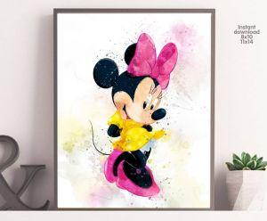 Minnie Mouse Wall Decor Luxury Minnie Mouse Wall Art Minnie Mouse Watercolor Minnie Mouse Printables Minnie Mouse Art Print Minnie Mouse Decor Disney Wall Art Disney Art