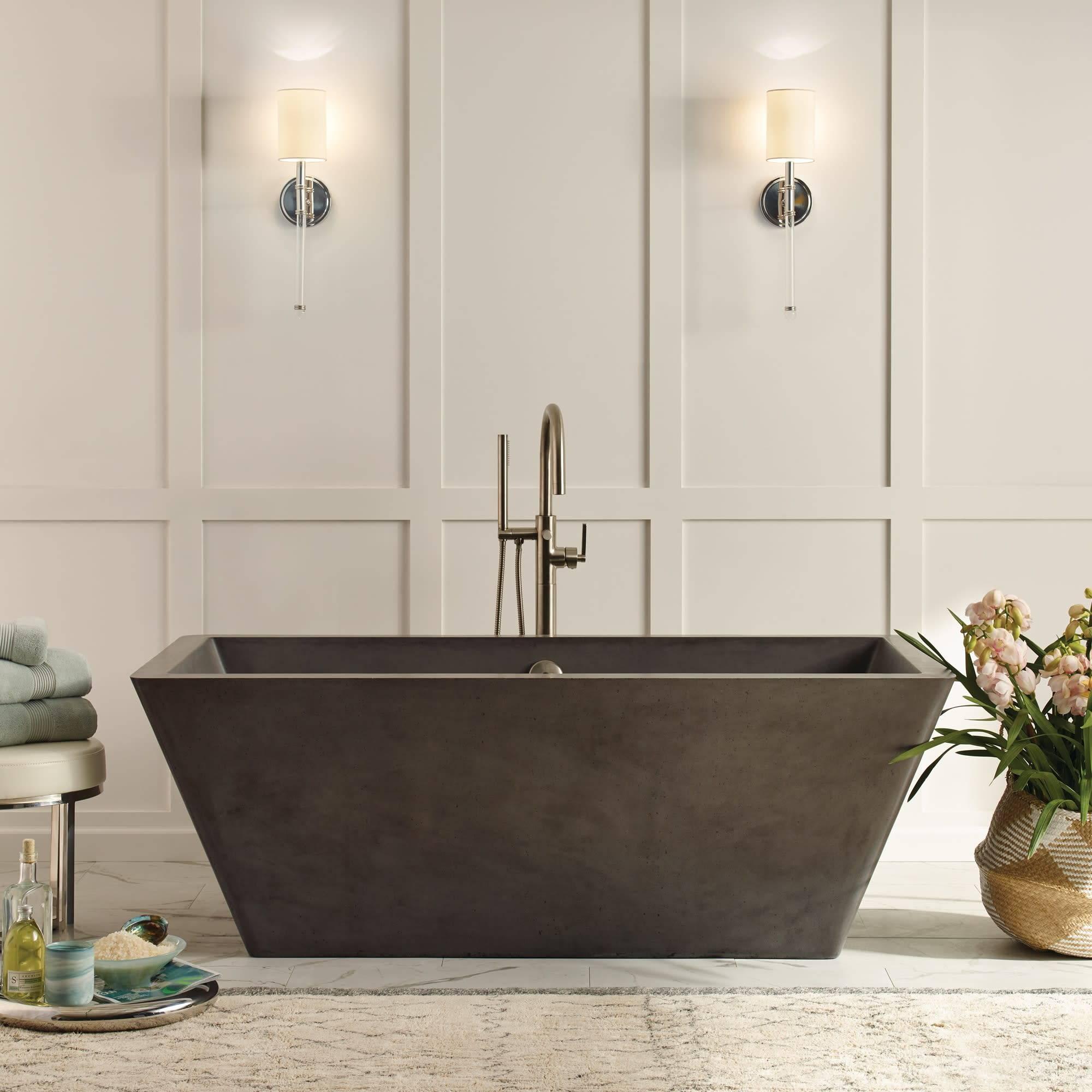Mendocino Concrete Bathtub Slate NST6634 S 2000 ofpury