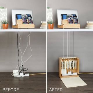 New Diy Charging Station organizer Best Of Cord Corral organizer Bamboo In 2020 with Images