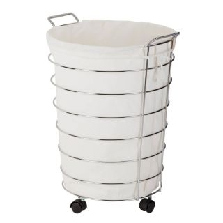 "Exceptional 3 Bin Laundry Hamper Awesome Honey Can Do Rolling Laundry Hamper 25"" Chrome Natural Item"
