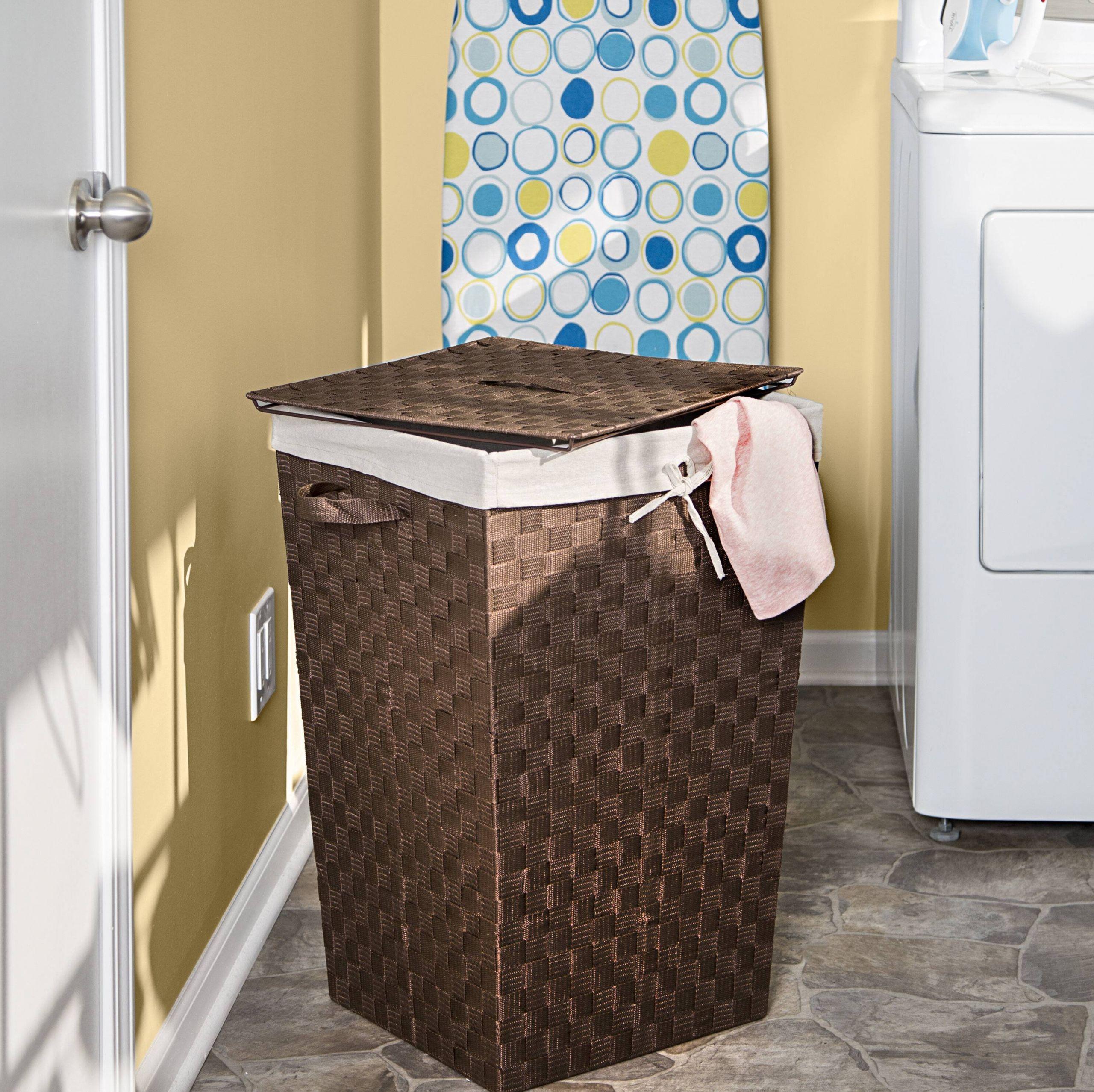 decorative woven laundry hamper