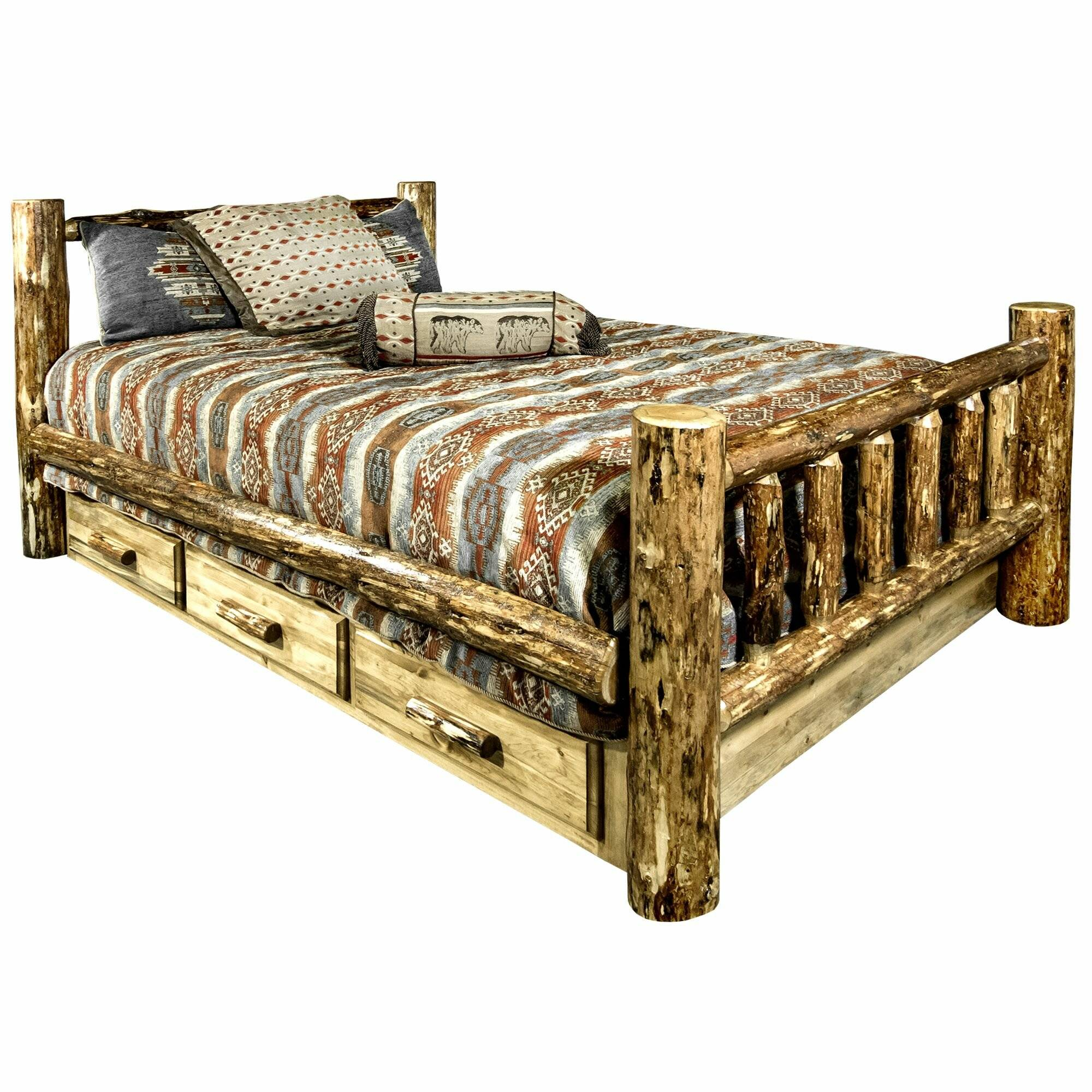 Exceptional Unusual Bed Frames New Tustin solid Wood Storage Standard Bed