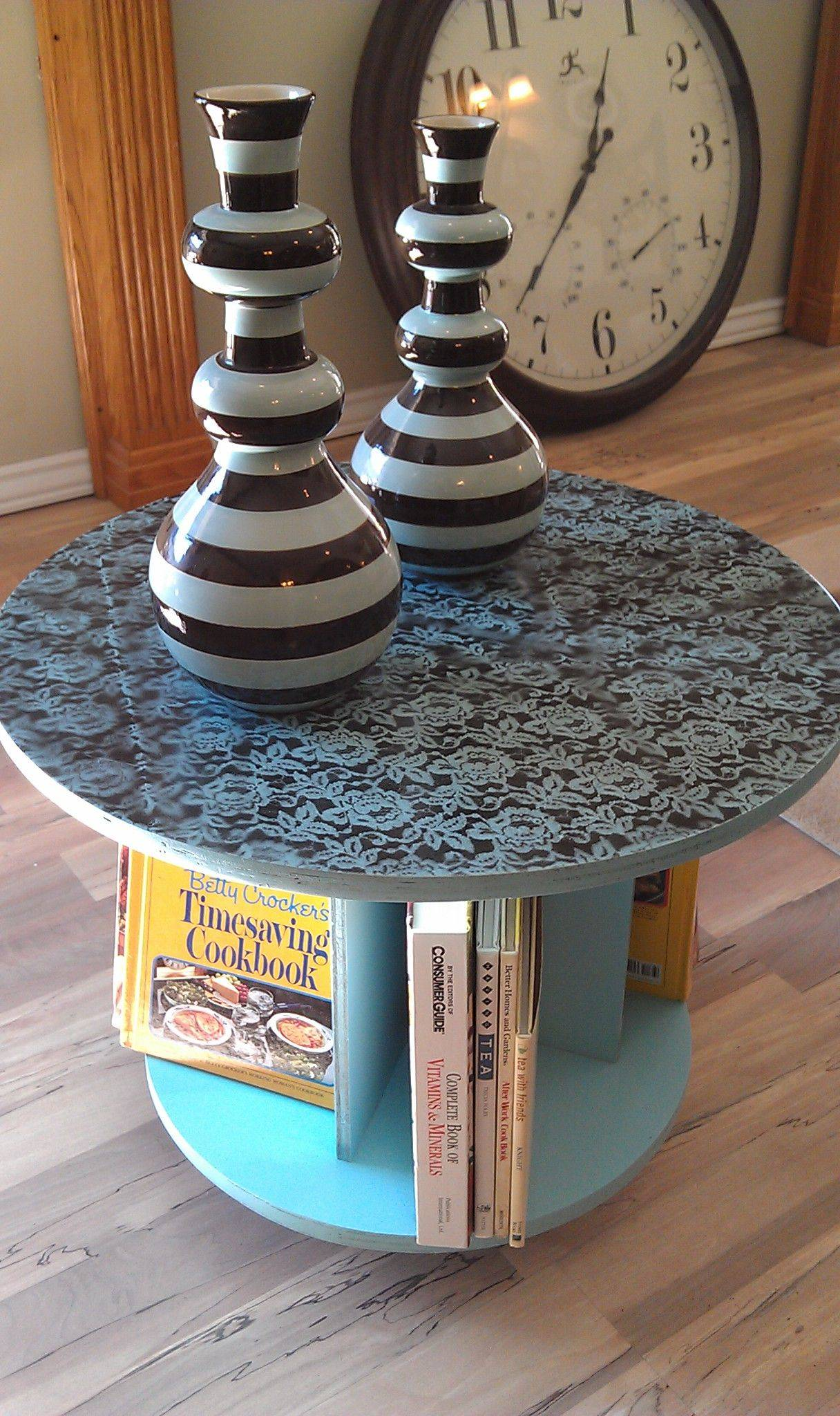 Fantastic Cable Drum Table Unique An Old Cable Spool Made Into An End Table Great for Books
