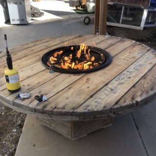 Fantastic Cable Drum Table Unique Cable Reel Fire Pit Lp Cablespooltables Cablespooltables