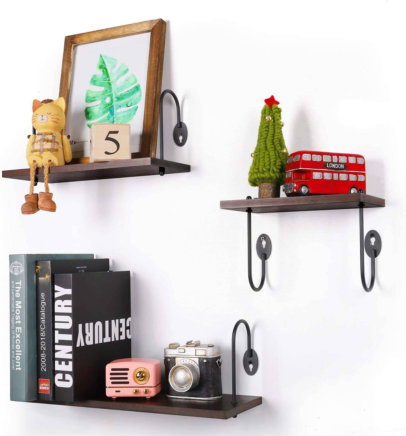 Fresh Design Decorative Kitchen Shelving Units Awesome Olakee Floating Shelves Wall Mounted Rustic Wood Wall Shelves Set Of 3 for Bedroom Bathroom Kitchen Fice Walnut