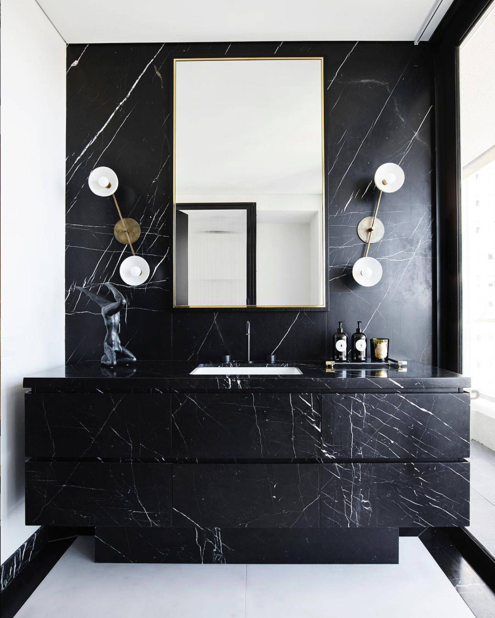 Incredible Marble Bathroom Awesome Monochromatic Bathroom by Poco Designs Featuring Our Halo