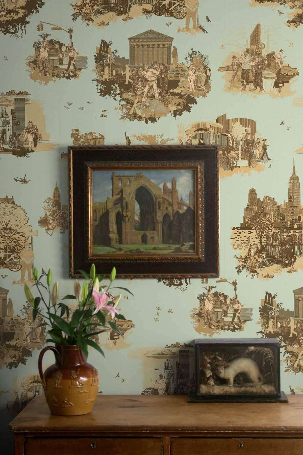 Incredible Rustic Wallpaper Fresh Timorous Beasties New York toile