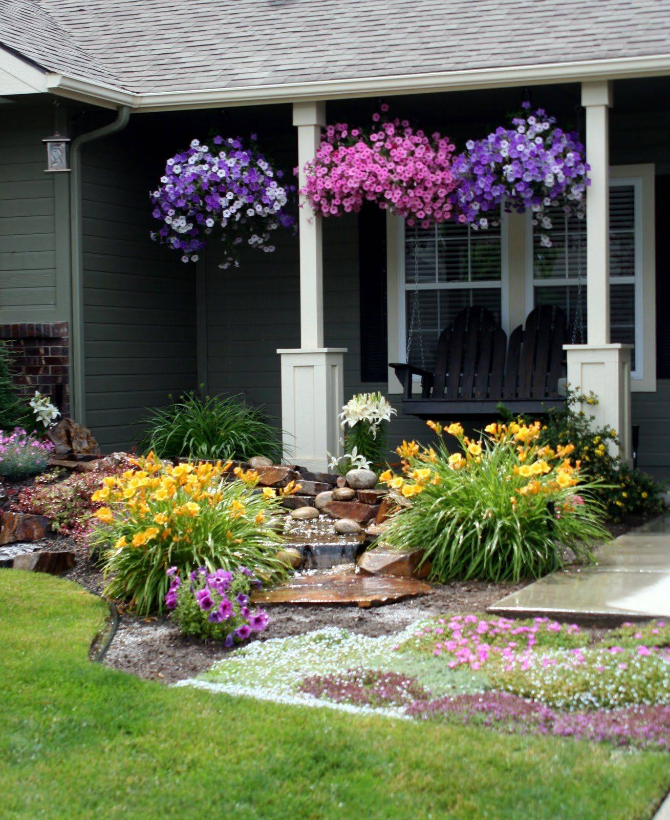 Remarkable Flower Bed Ideas Front Of House Awesome Our Kind Of Wonderful
