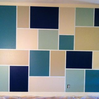 Unique Wall Paint Ideas Lovely Feature Wall Step 1 Tape Out Design Step 2 Paint