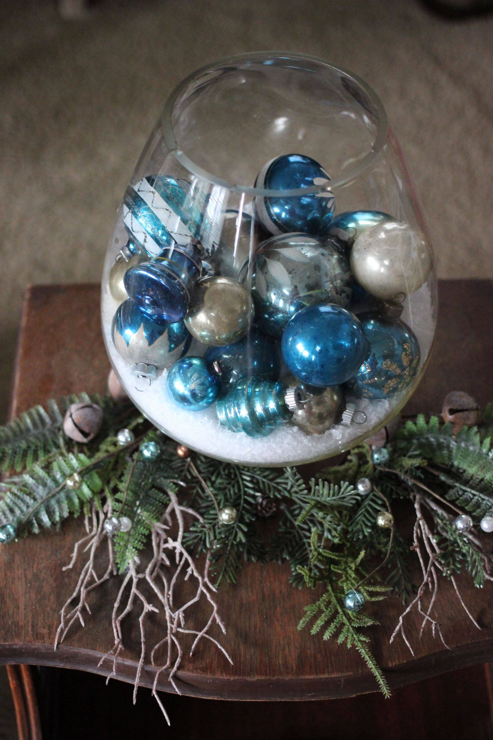 Aqua Blue Christmas Decorations Awesome Mercury Glass Balls From Poland In Blue and Silver