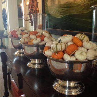 Decorating with Punch Bowls Best Of Pumpkins In Silver Punch Bowls are A Great Way to Mix Rustic