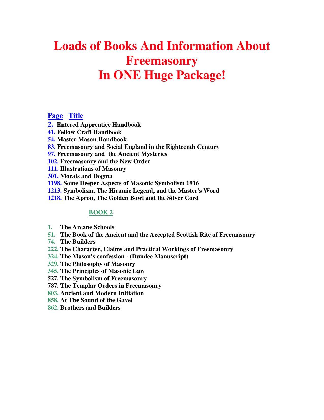 Decorum Brunswick, Ga Beautiful Loads Of Books and Information About Freemasonry 1 Of 2 Pdf