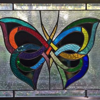 "Exceptional Stained Glass Home Decor Best Of American Stained Glass Window ""celtic butterfly"""