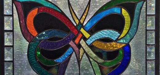 """Exceptional Stained Glass Home Decor Best Of American Stained Glass Window """"celtic butterfly"""""""