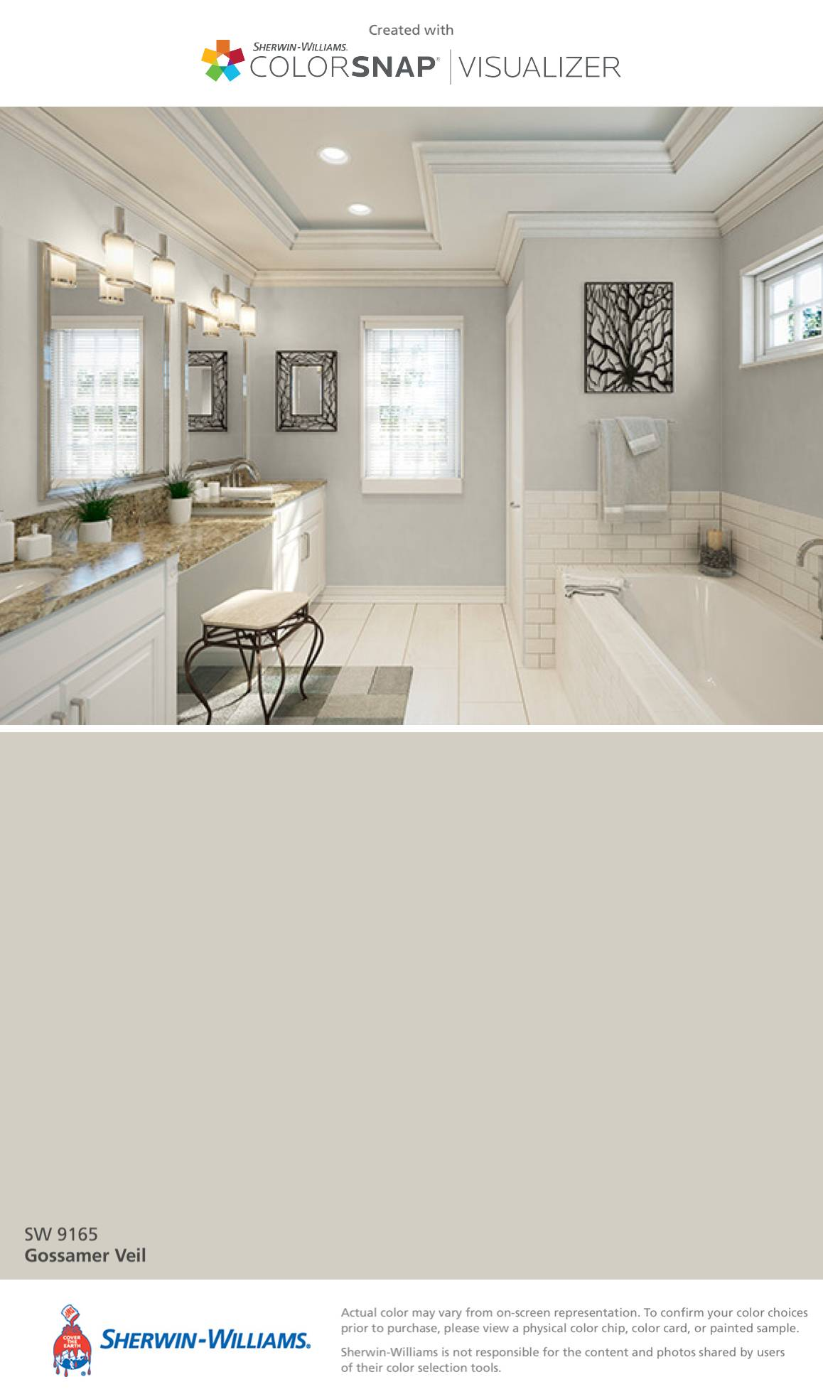 Highland Grey Sherwin Williams Lovely I Found This Color with Colorsnap Visualizer for iPhone by