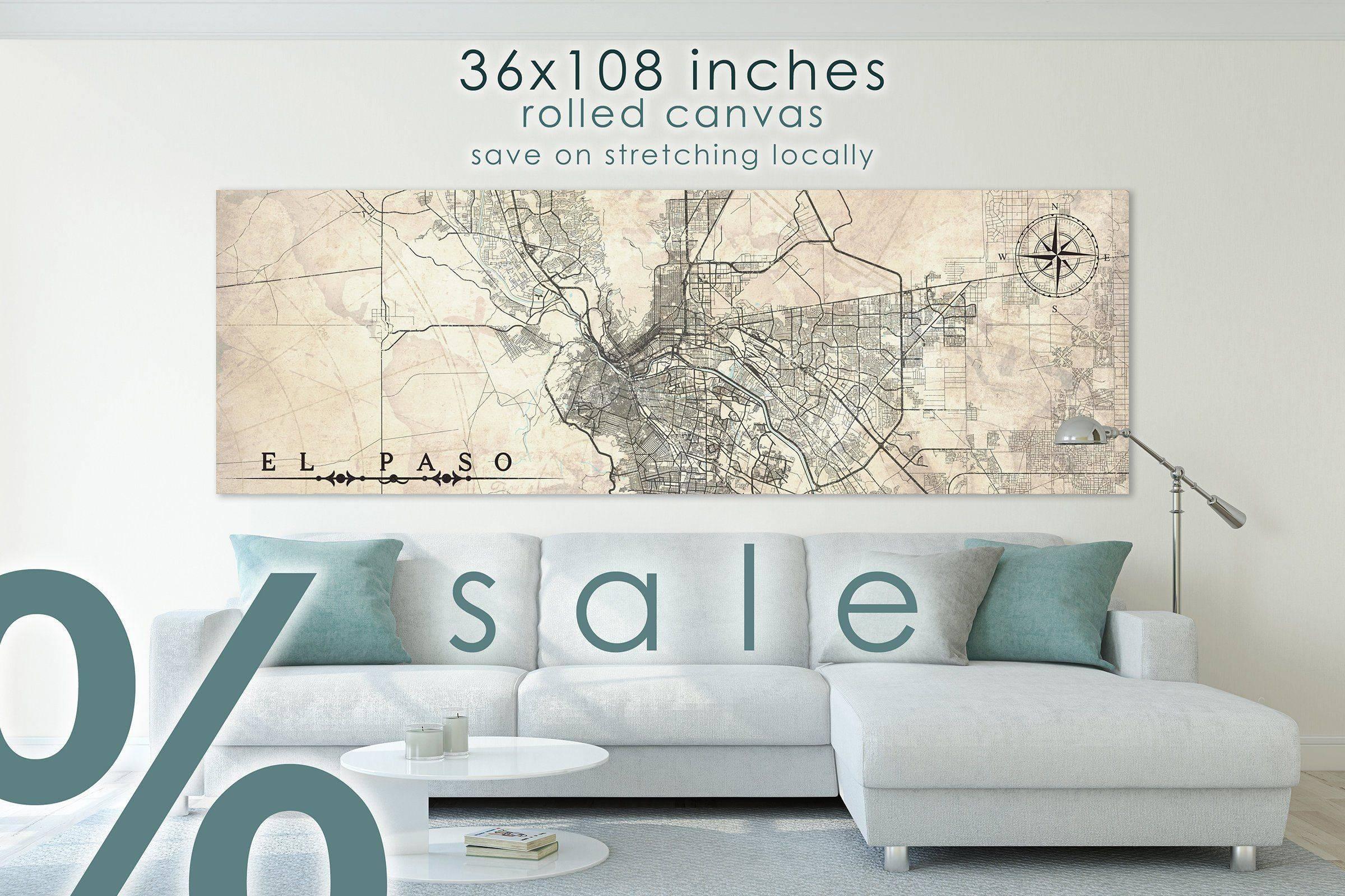 Home Decor El Paso Luxury Sale El Paso Tx Canvas Print Texas Extra Oversized