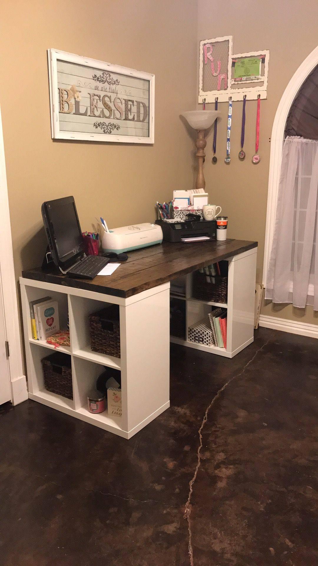 Homemade Desk Lovely Diy Craft Desk In 2020