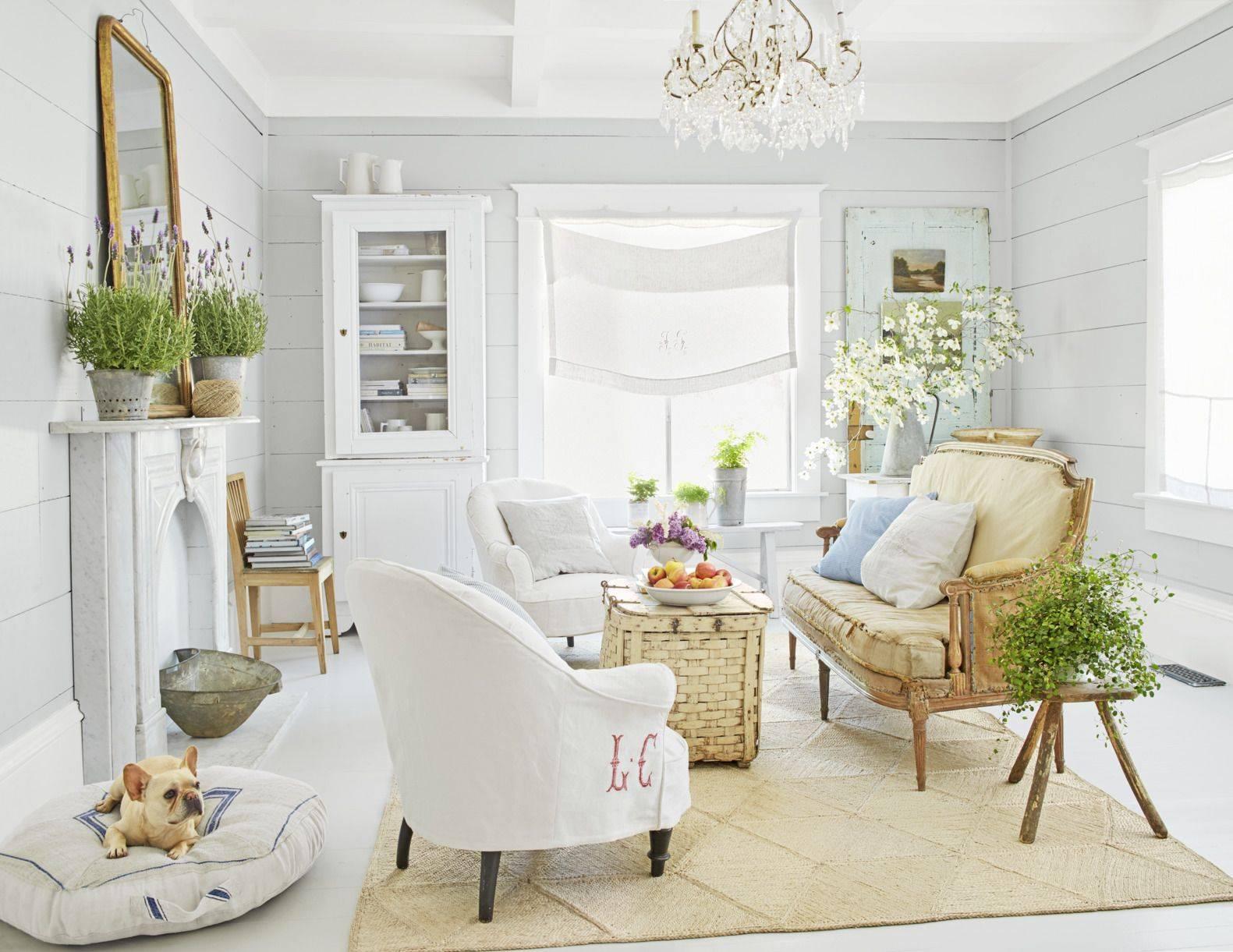 white living room sunny
