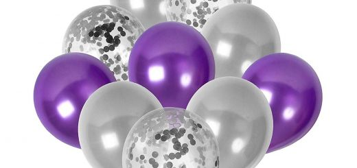 New Purple and Silver Decorations New Purple and Silver Balloons