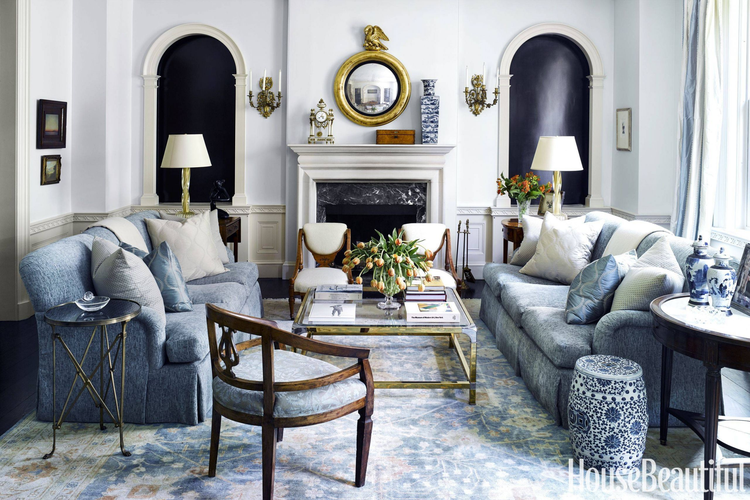 living room french country