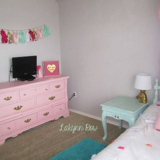 Pink and Mint Bedroom New My Daughter S Pink Gold and Mint Room Furniture Painted