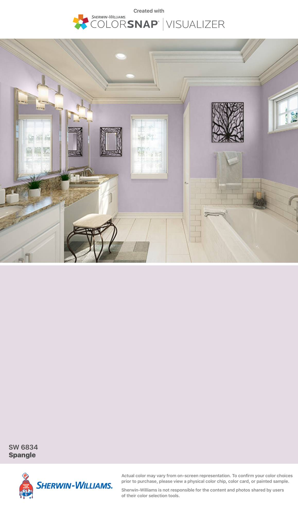 Sherwin Williams Sandbar Interior Luxury Masterbath Spangle Sw 6834 Sherwin Williams