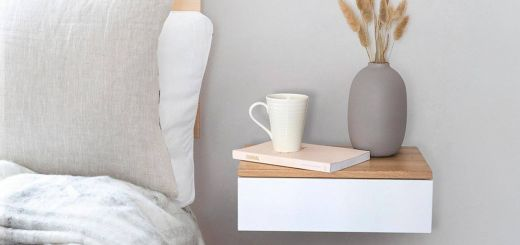 Small Wall Mounted Nightstand New Floating Bedside Drawer