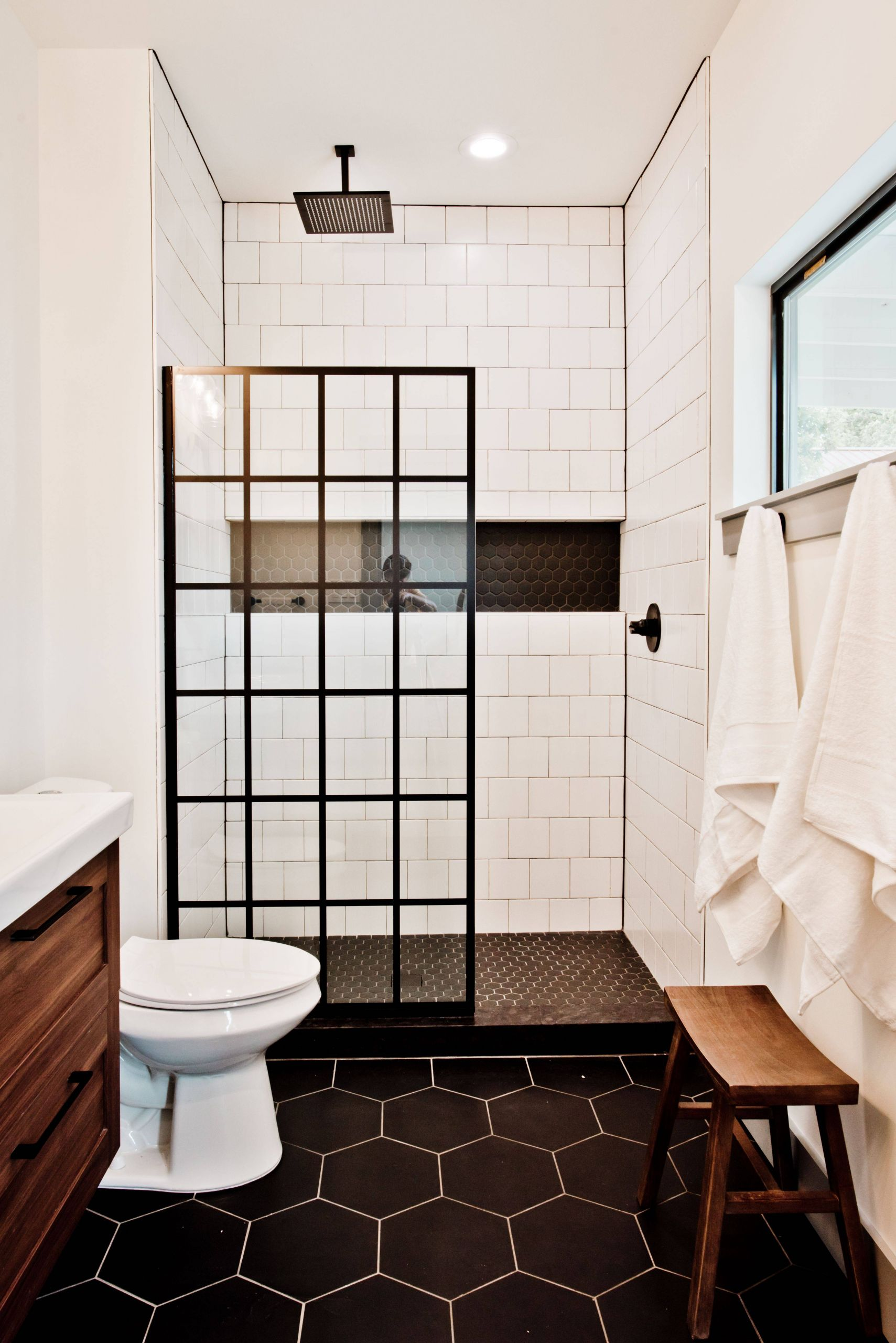 Exceptional Decorative 4x4 Ceramic Tiles Luxury Black Hex Bathroom