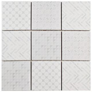 "Exceptional Decorative 4x4 Ceramic Tiles New Geogloss 4"" X 4"" Porcelain Mosaic Tile"