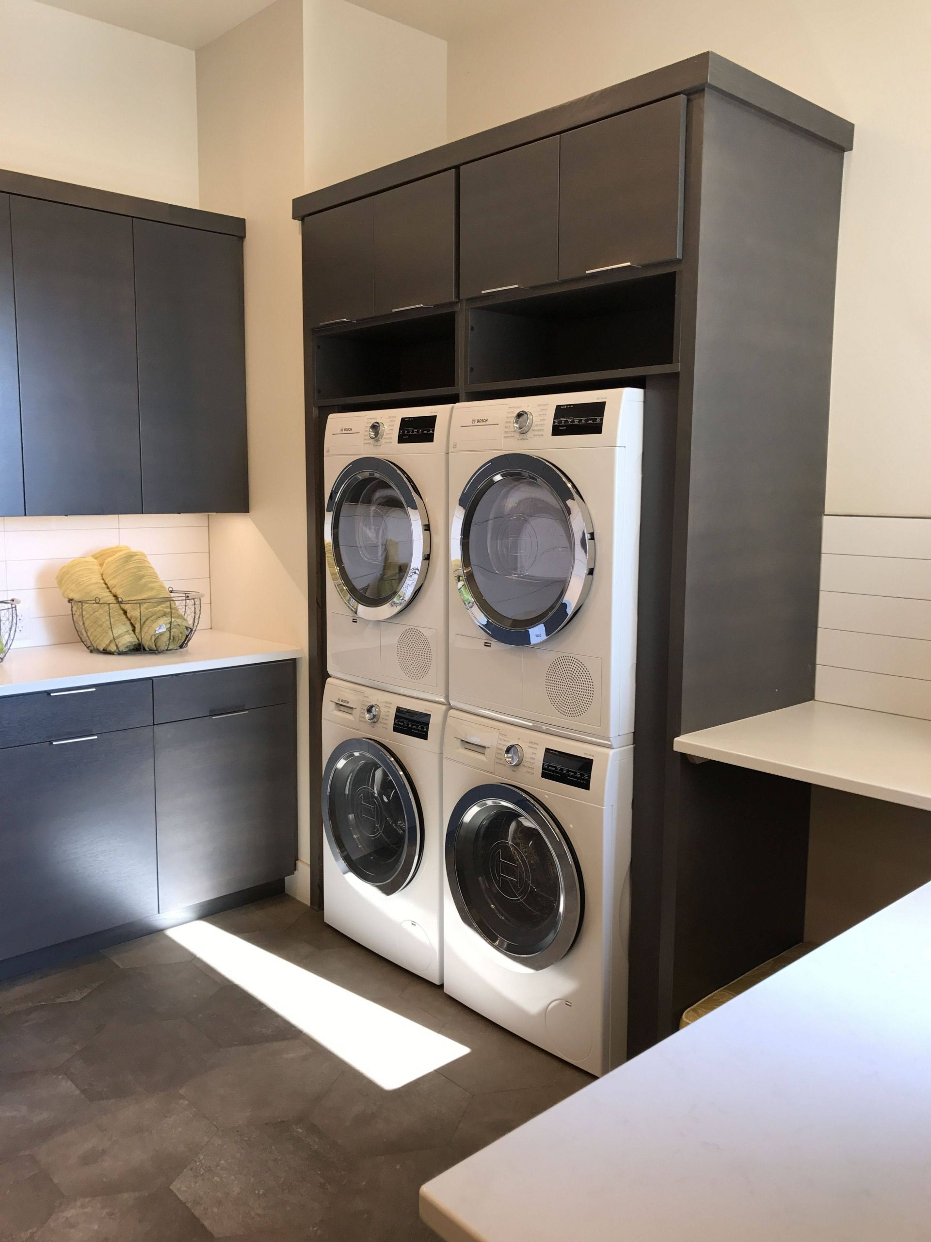 Exceptional Laundry Room Ideas Lovely Double Stacking Washers Would Be Perfect In the Laundry Room