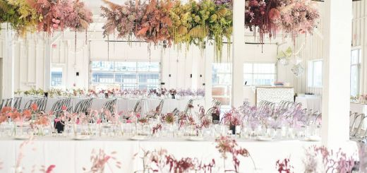 Fresh Design Natural Wedding Decorations Lovely Floating Rainbow Colored Installation Including Painted