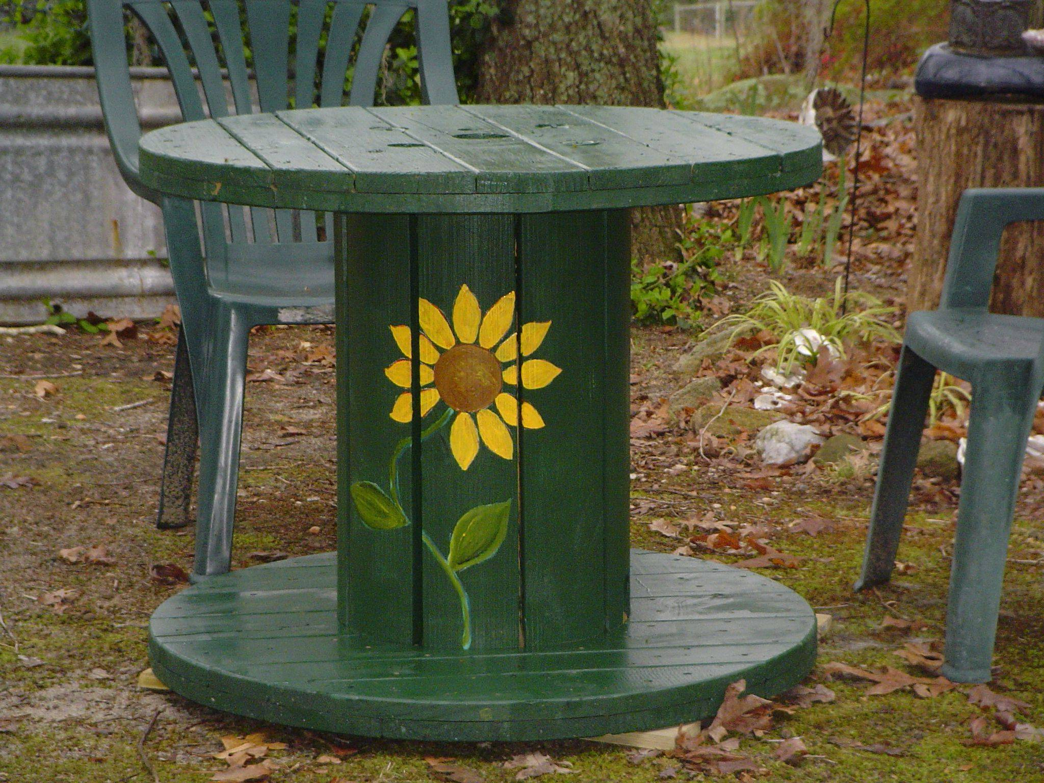 Incredible Wooden Wire Spools Inspirational Wooden Cable Spool Garden Table