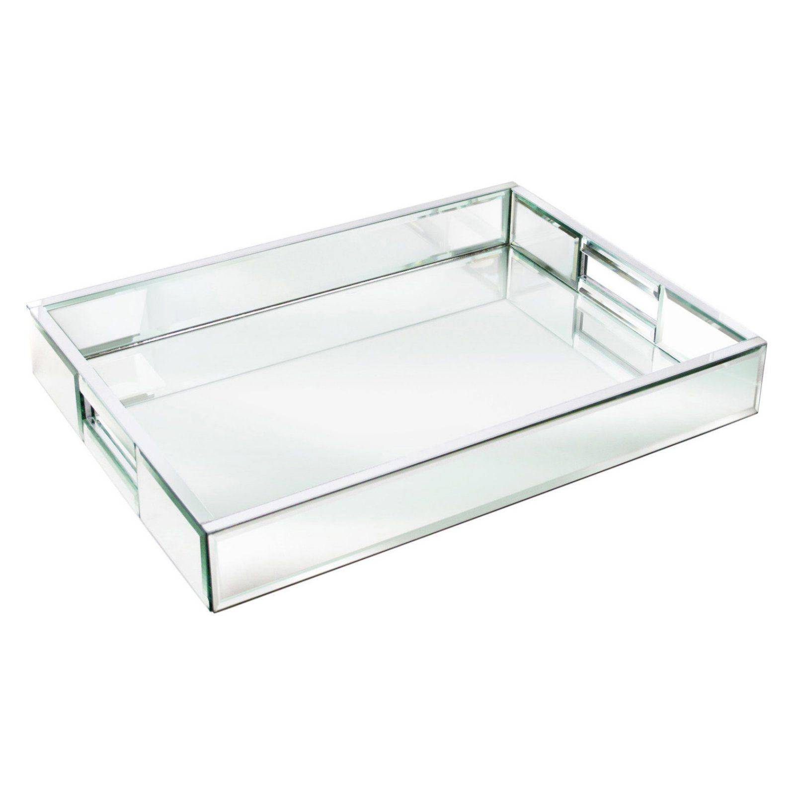 New Contemporary Trays Fresh Charge It by Jay Mirror Rectangle Tray with Handles