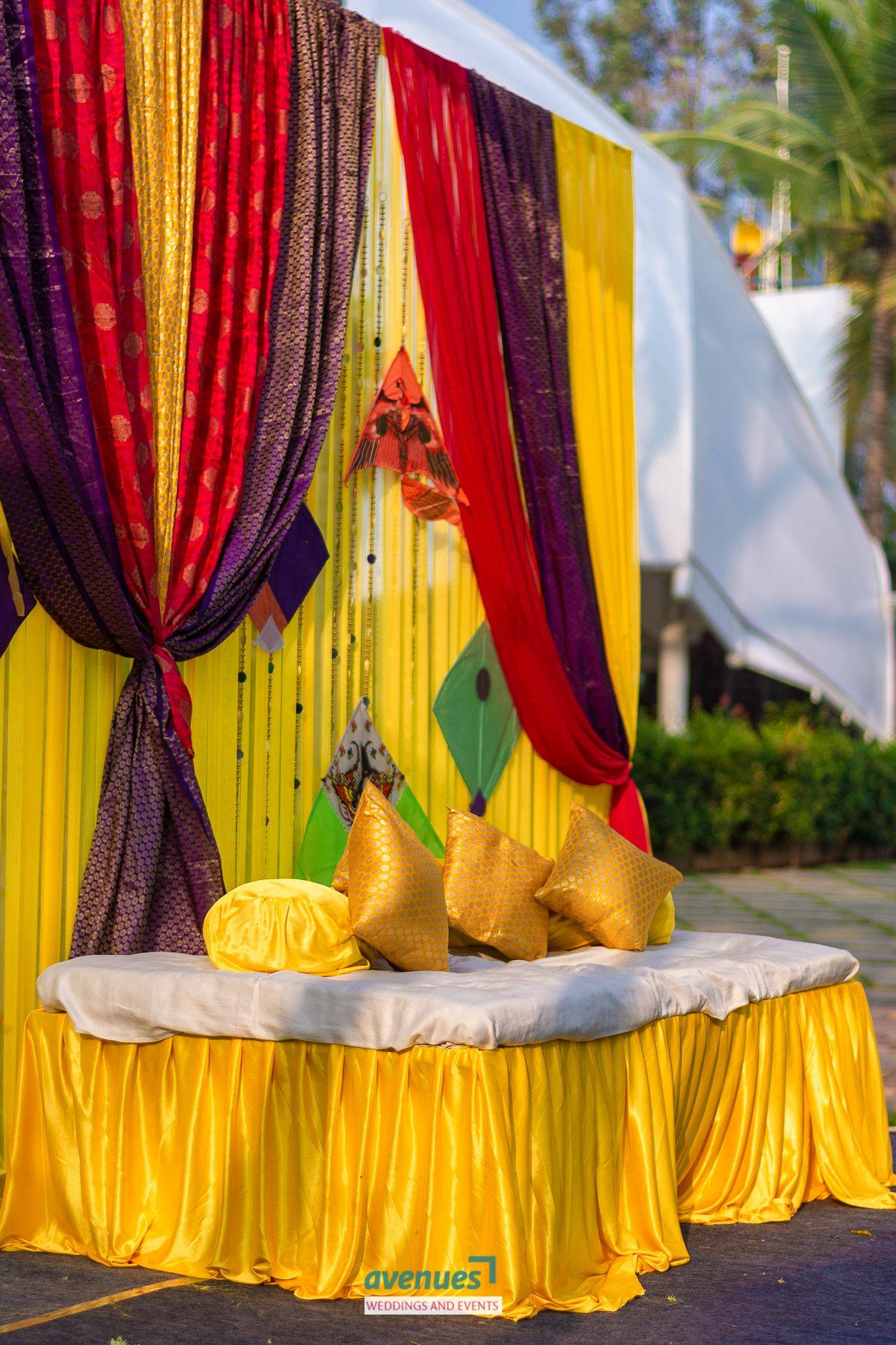 New Indian Wedding House Decorations Lovely Outdoor Haldi Setup Prewedding