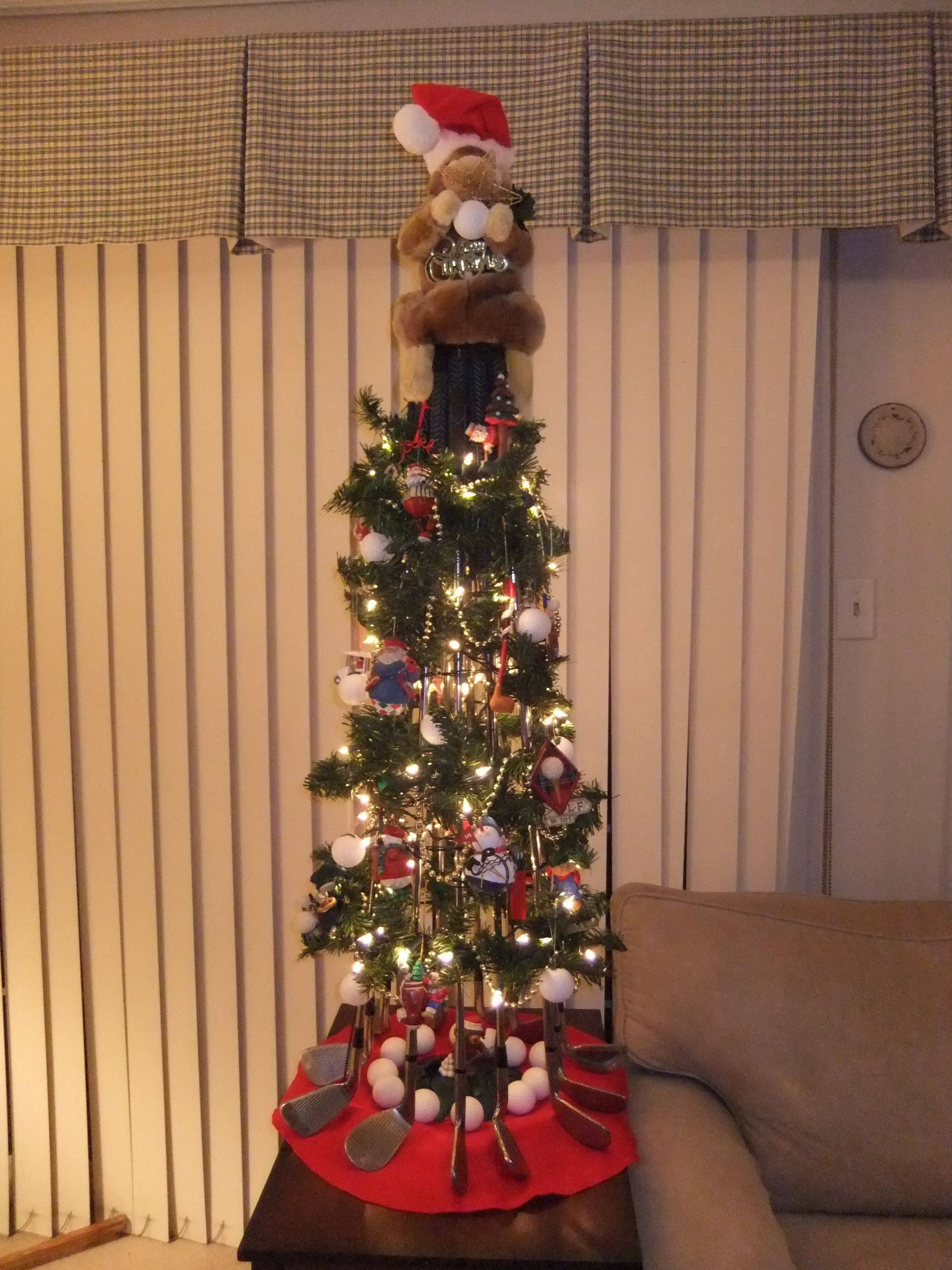 Pinterest Outdoor Christmas Decorations Inspirational Christmas Tree Made From Golf Clubs