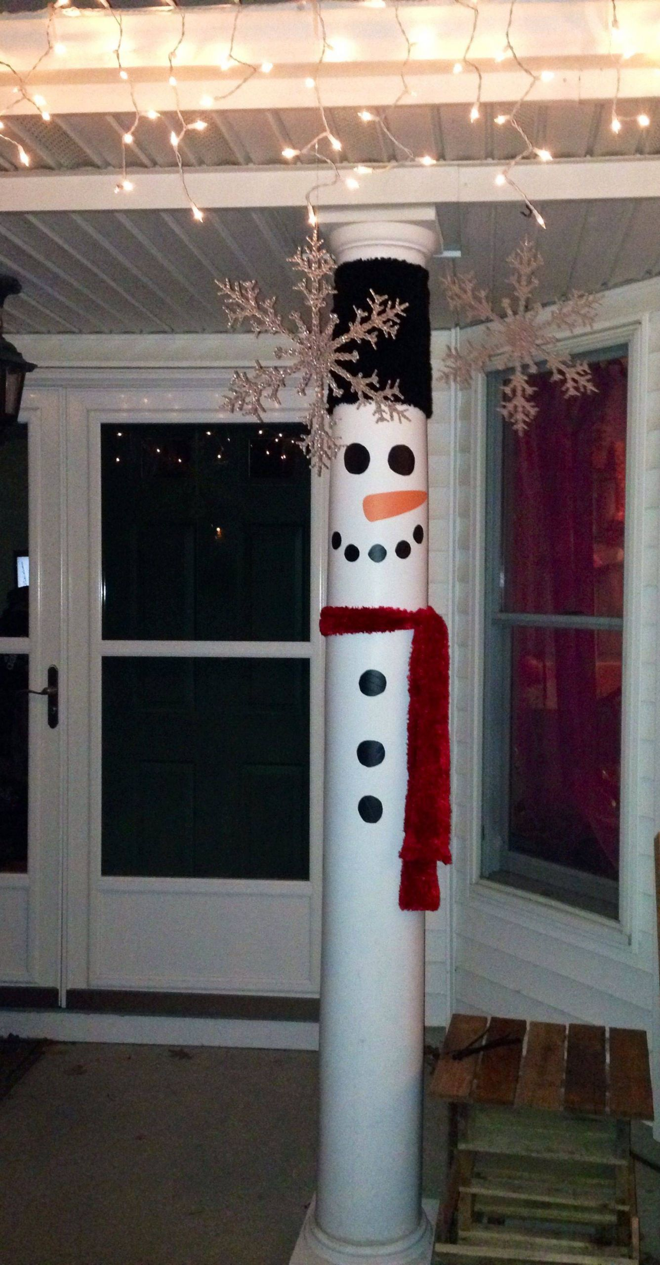 Pinterest Outdoor Christmas Decorations Lovely Turn Your Front Porch Pillars In to Snow Men